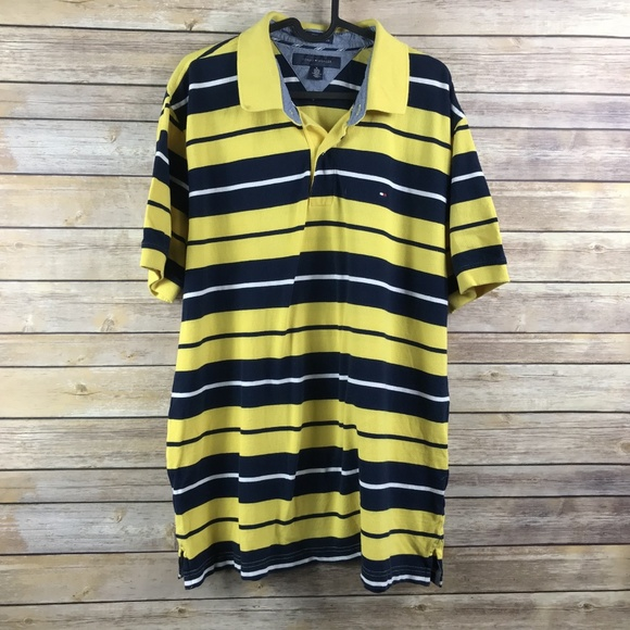 Tommy Hilfiger Other - Tommy Hilfiger Stripe Polo Shirt Custom Fit - AA10